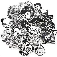 Modou Negro Blanco Sticker Graffiti Vinilo Pegatina para Laptop Cars Motocicleta Bicicleta Skateboard Equipaje Bumper Helmet Ventana Teléfono Notebook Guitarra Skateboard Snowboard Tatuajes de Pared