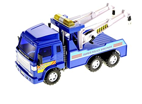 Big Boy Toys Police : Amazon big heavy duty wrecker tow truck police toy for kids