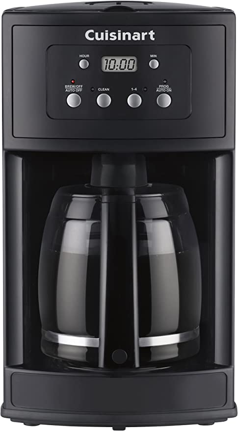 Cuisinart dcc-500 12-cup cafetera programable, color negro: Amazon ...