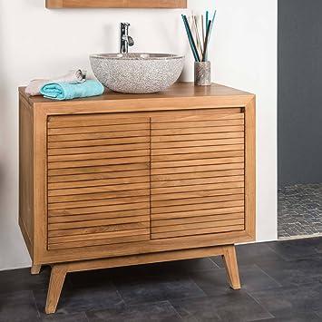 wanda collection Mueble para Cuarto de baño de Teca Vintage 90: Amazon.es: Hogar