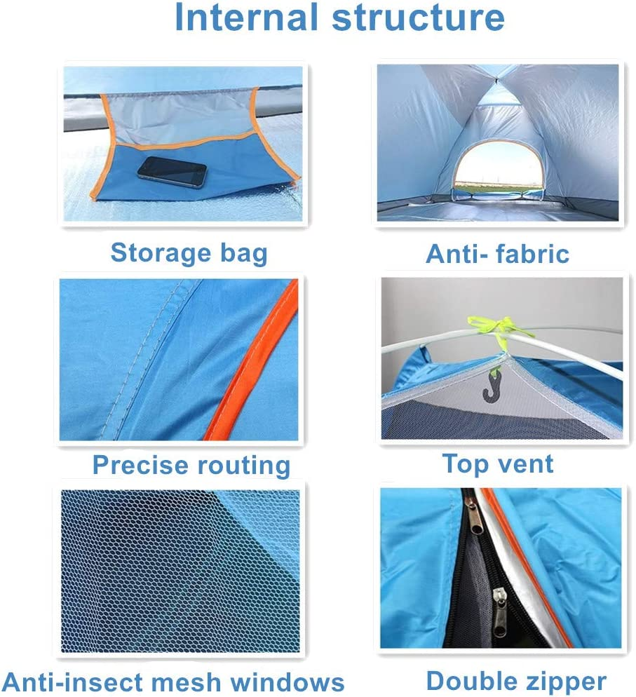Jinfusi Anti-uv Waterproof Instant Tent 3-4 Person Camping Tent Lightweight Outdoor Backpacking Tent Shelter
