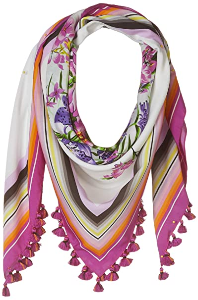"Lake Como Love Square Tassels Printed Scarf 47"" X 47"" by Lake Como Scarves"