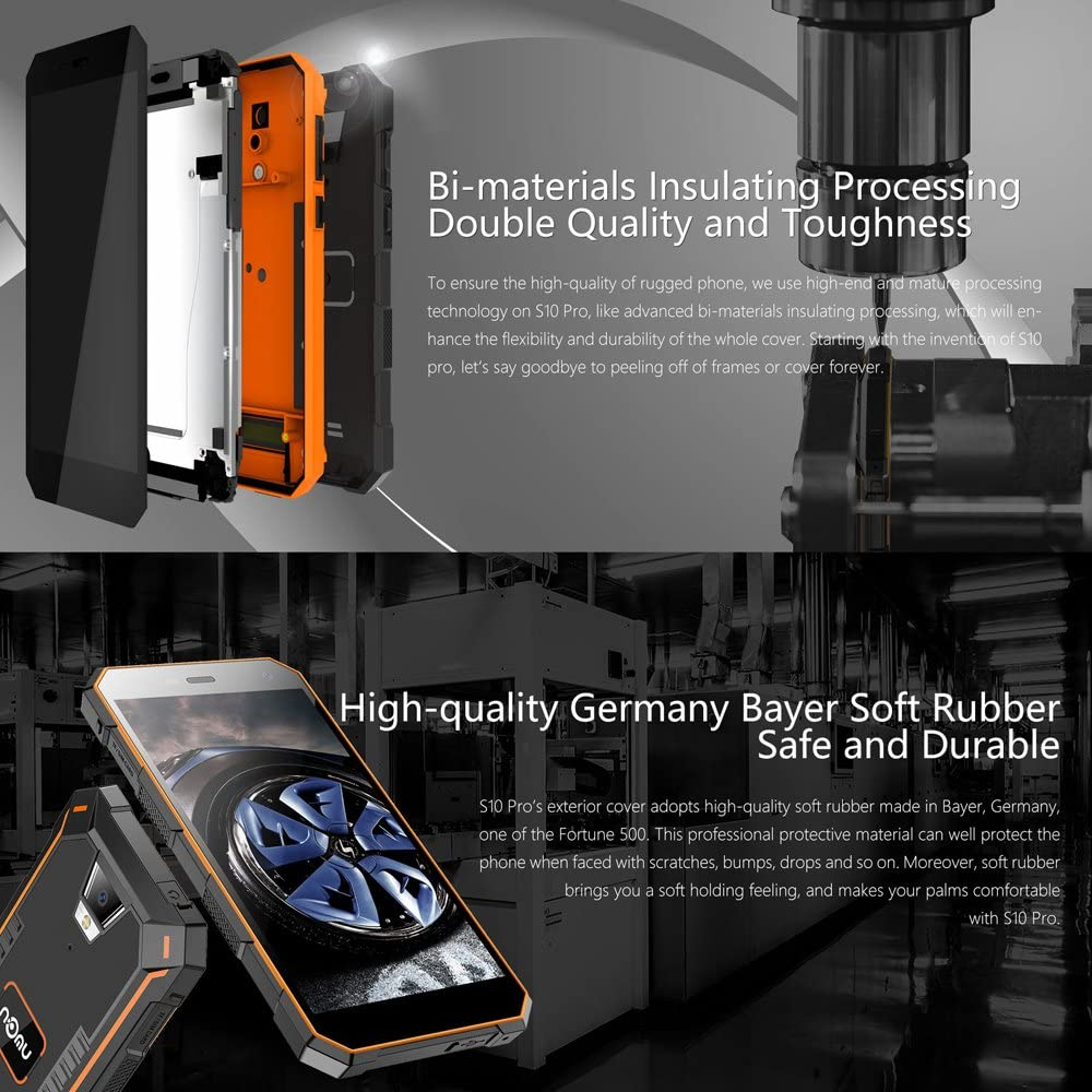 NOMU S10 Pro Smartphone Resistente de 5,0 Pulgadas HD Android 7.0 ...