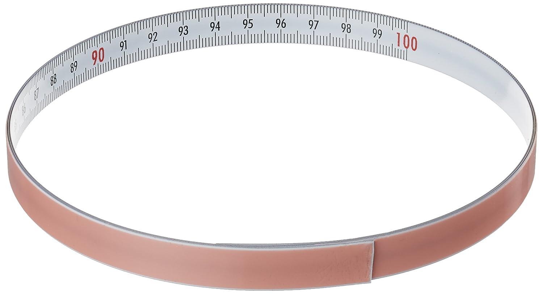RICHTER mètre ruban autocollant graduation de gauche à droite 1 sK527WSA/m 1 m SK527WSA/1M