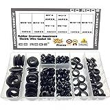 Rubber Grommet Assortment Electric Wire Gasket Kit 8 Size 200 Pcs