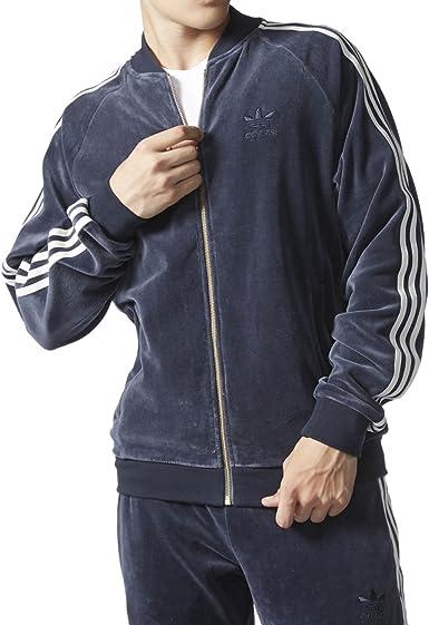 en términos de Gallina desaparecer  Amazon.com: adidas Originals Superstar de terciopelo chamarra para hombre  Legend Ink ay9222, Azul, M: ADIDAS: Clothing