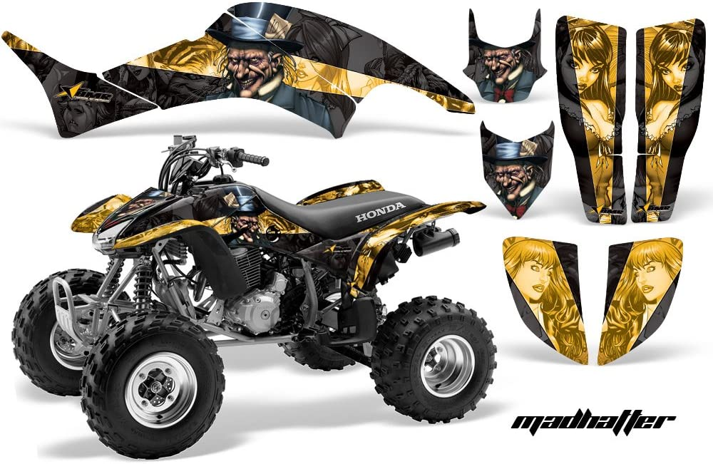 Wholesale Decals ATV Graphic Kit Sticker Decals Compatible with Honda TRX400EX 1999-2007 Reaper Yellow
