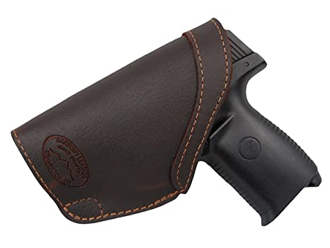 Barsony Brown Leather IWB Holster for Ruger SR9C SR40C Hunting