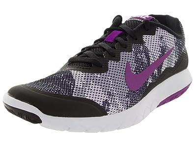 a5c19f5070c Nike Women s Flex Experience Run 4 Premium Running Shoe Black White Vivid  Purple Size