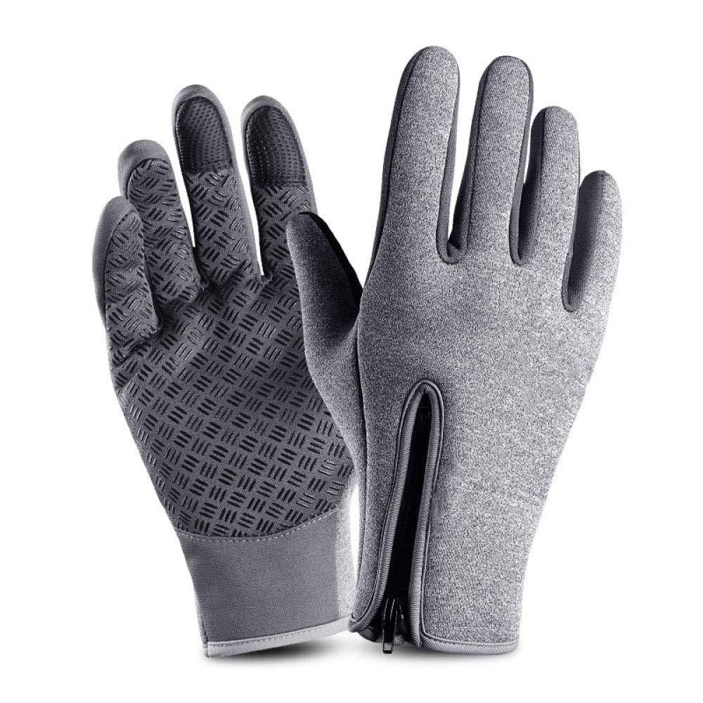 Myzixuan Winter Velvet Thickened Gloves Mens Winter Riding Motorcycles Waterproof and Windproof Warm Cold Touch Screen Gloves