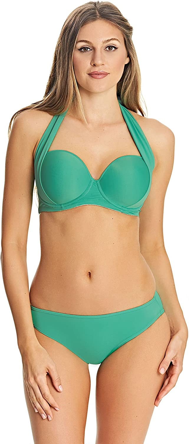 FREYA DECO SWIM BIKINI TOP OCEAN SIZE 36FF UNDERWIRED PADDED MOULDED GREEN 3284