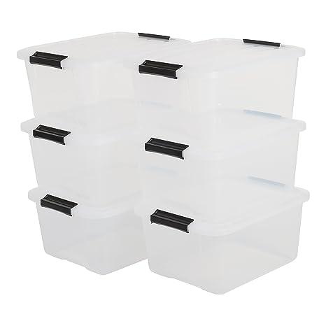Deckel 30 x 20 x 16,5 cm transparent Plastikbox Kunststoffbox Aufbewahrungsbox