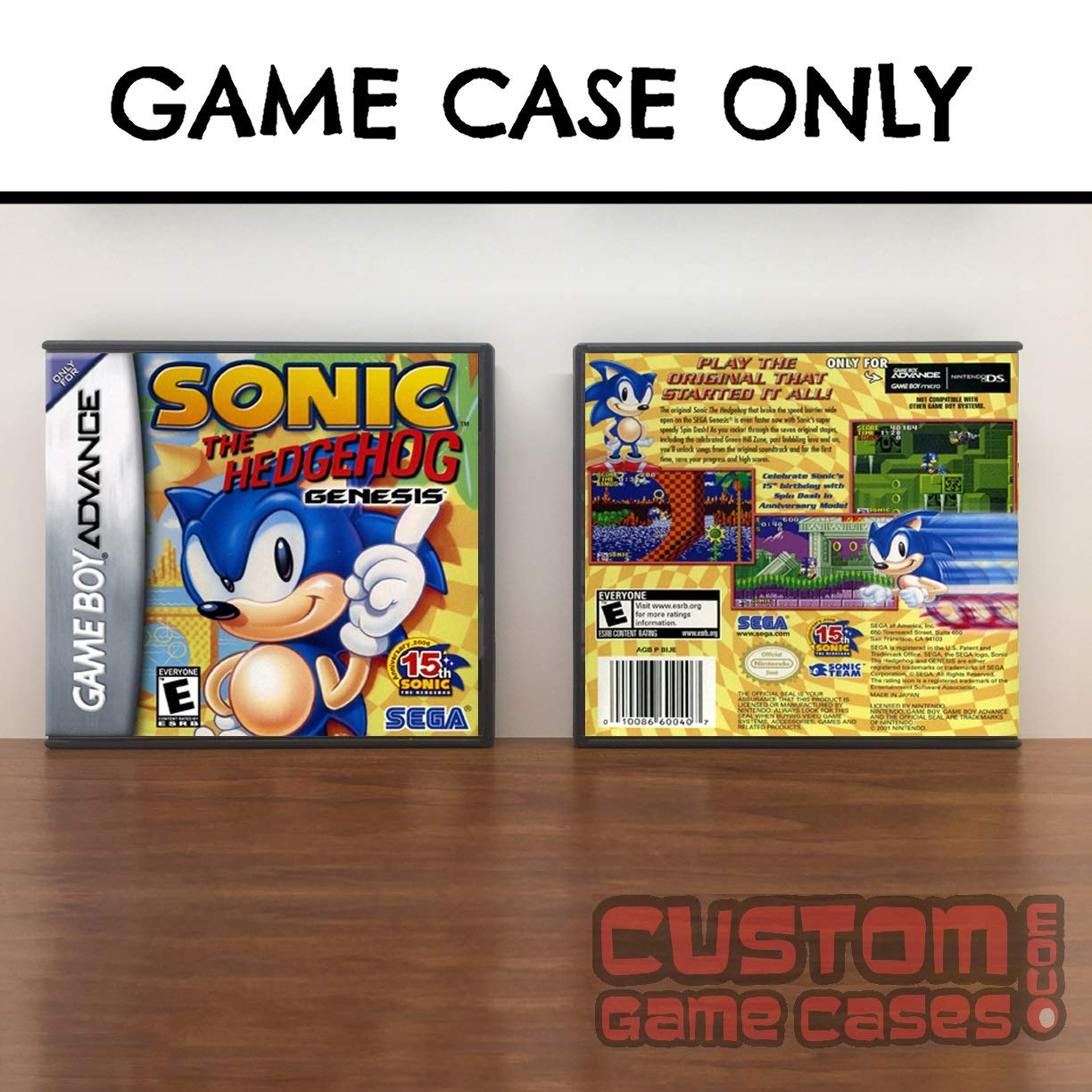 Amazon Com Gameboy Advance Sonic Sonic The Hedgehog Genesis Case Handmade