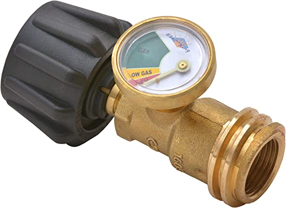 Flame King Propane Tank Gauge Level Indicator Leak Detector Gas Pressure Meter Color Coded & Glow in the Dark Universal for Cylinder