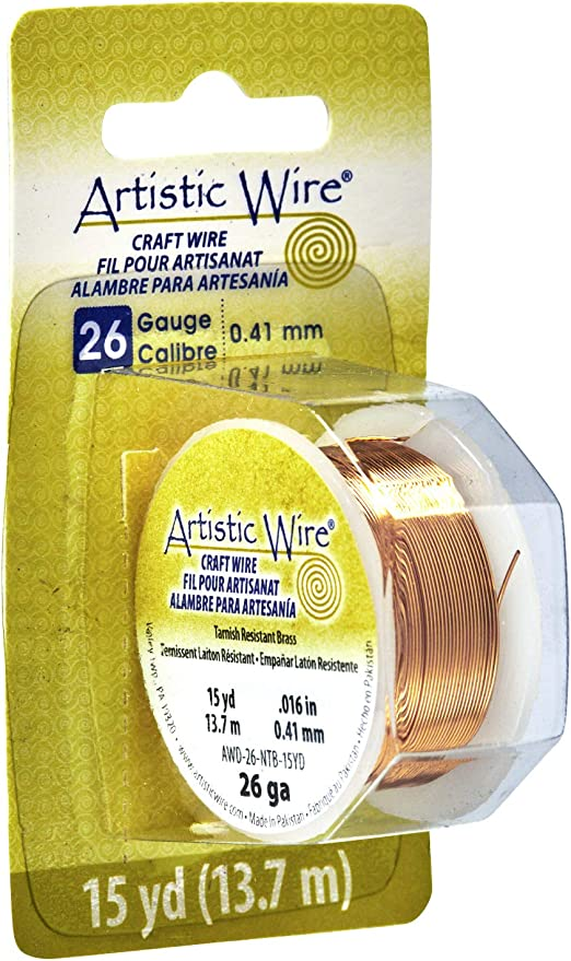 Artistic Wire 26 Gauge 15yd-Non-Tarnish Silver 26AWG-NTS