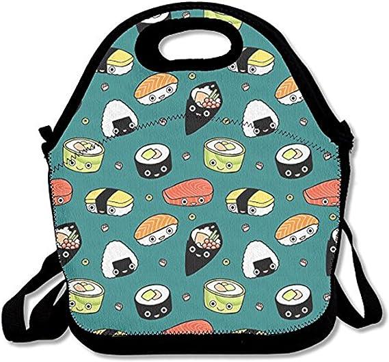 ZMvise Japan Sushi Kawaii Il Pranzo di Stoffa sormontato riutilizzabili Picnic Borse scatole Uomini Donne Bambini Bambino Infermiere Valigia