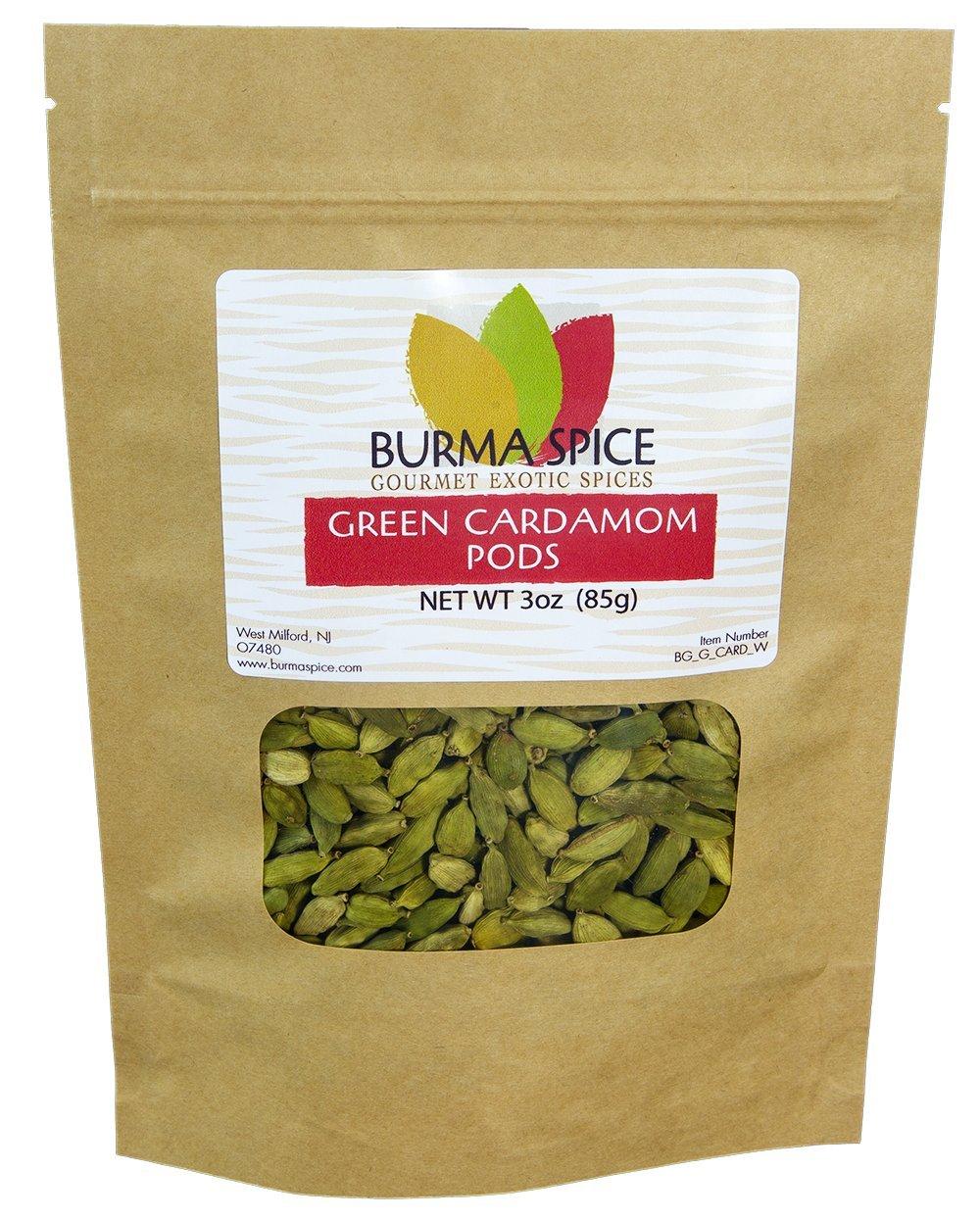 Green Cardamom Pods : Dried Indian Spice : Kosher (3oz.)