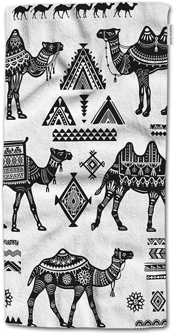 Amazon Com Hgod Designs Hand Towel Wolf Coyote Sketch Head Hand Towel Best For Bathroom Kitchen Bath And Hand Towels 30 Lx15 W Home Kitchen