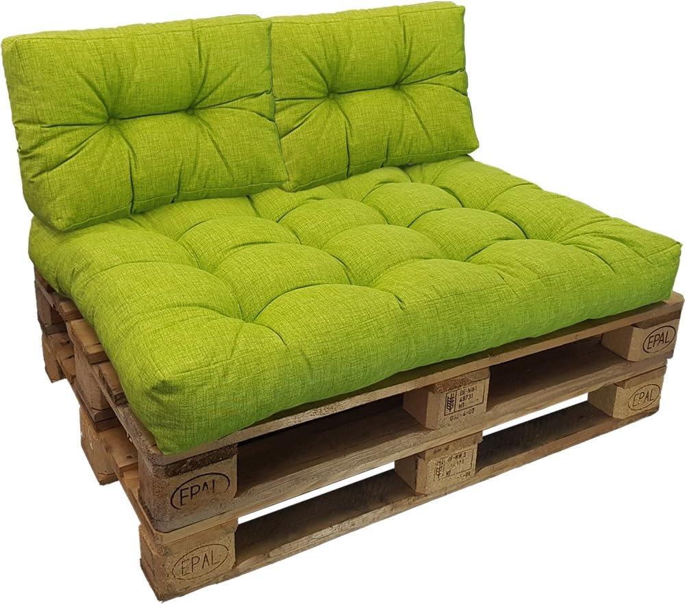 Color:Verde Manzana Cojin de Asiento o Respaldo para sof/ás palets DILUMA Cojin para pal/és Confort Repelente a Las Manchas NO ES UN Set! Variante:1x Coj/ín De Respaldo 60x40 cm