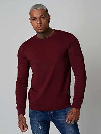 3170ba6ea89e Image Unavailable. Image not available for. Color: Project X Paris  Sweatshirt with Contrasting Chevrons and Piping Bordeaux