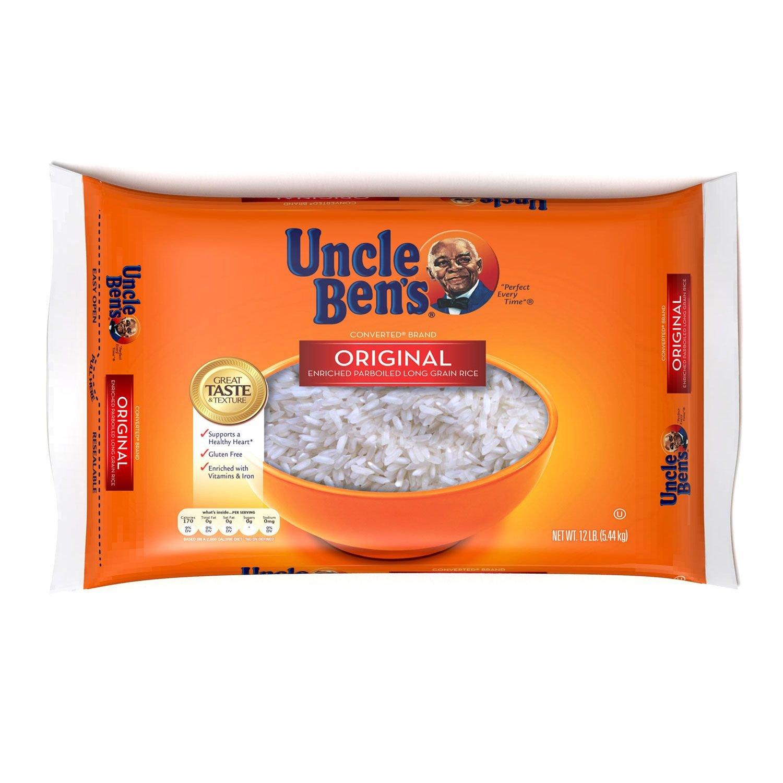 Uncle Ben - Arroz de grano largo original 12 lb Bolsa de ...