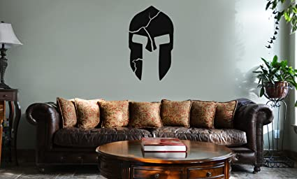 00c70e70f928 DECAL SERPENT 300 Inspired Cracked Spartan Helmet Vinyl Wall Mural ...