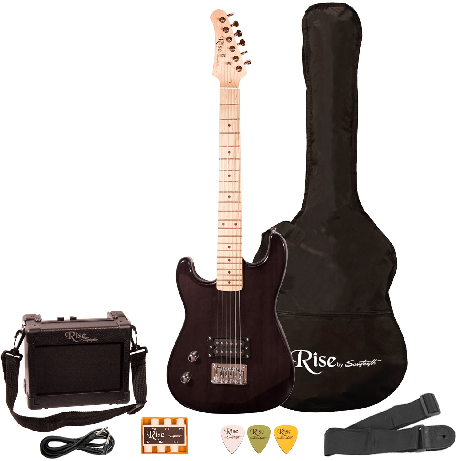 Rise by Sawtooth ST-RISE-ST-LH-SB-KIT-1 Electric Guitar Pack, Left Handed, Sunburst GO-DPS