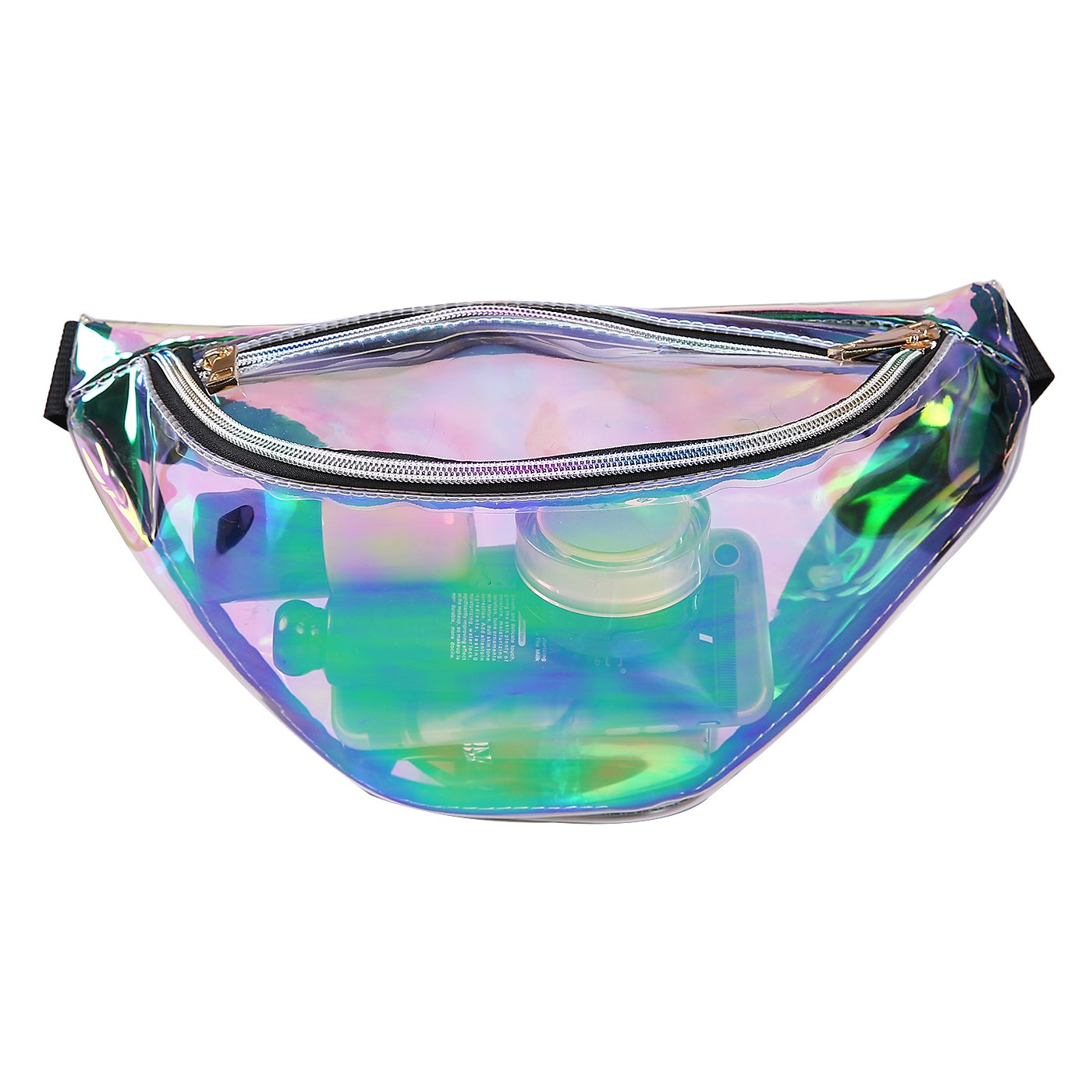 HDE Shiny Fanny Pack for Rave Festival Travel Waist Pack Holographic Bum Bag