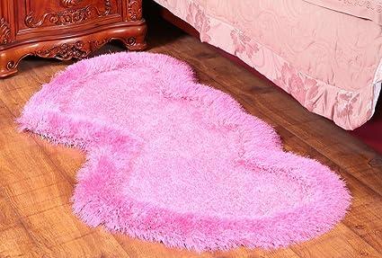 Tappeto Da Salotto Rosa : Moquette moda tappeto a forma di cuore camera da letto
