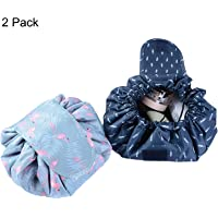 Lazy Makeup Bag Drawstring Cosmetic Bag Magic Travel Pouch Portable Quick Pack Waterproof Organizer Bags for Women 2…
