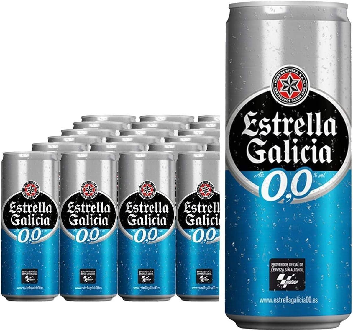Estrella Galicia Cerveza 00 - Pack de 24 latas x 33 cl: Amazon.es: Alimentación y bebidas