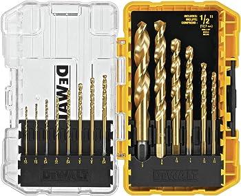 14-Piece DeWalt Titanium Speed Tip Drill Bit Set