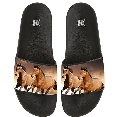 Running Horse Women Men Slide Slippers Non-slip Home Floor Flip-flops Beach Sandal Indoor Outdoor