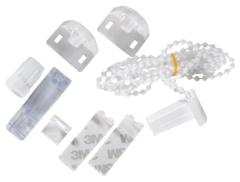 K-home Mini Tenda a Rullo 01.SB con Morsetto e Kit di Montaggio per Sistema Klemmfix 5/x 1,5/x 3,5/cm Bianco in plastica