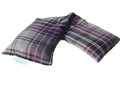 Bolsa térmica de algodón tartán para microondas, 46 cm de largo