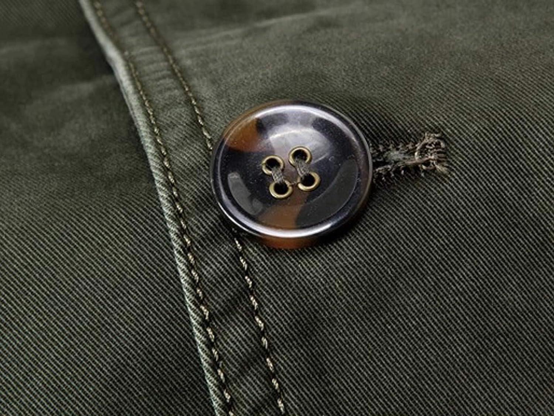 LEOCLOTHO Giacche da Uomo Casual Leggero Blazer in Cotone Stile Militare Giacca Cappotto Outwear