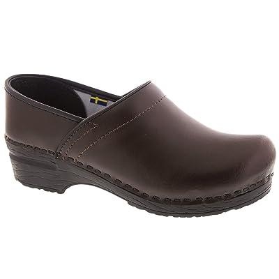Bjork PRO ELI Men's Brown Leather Clogs | Mules & Clogs