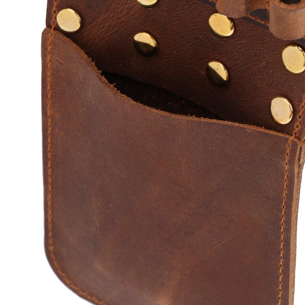 TentHome portable Arrow Bag Vintage Synthetic Leather Archery Quiver Hip Back Waist Belt Pouch Pocket 6 Arrow or 12 Arrows Holder