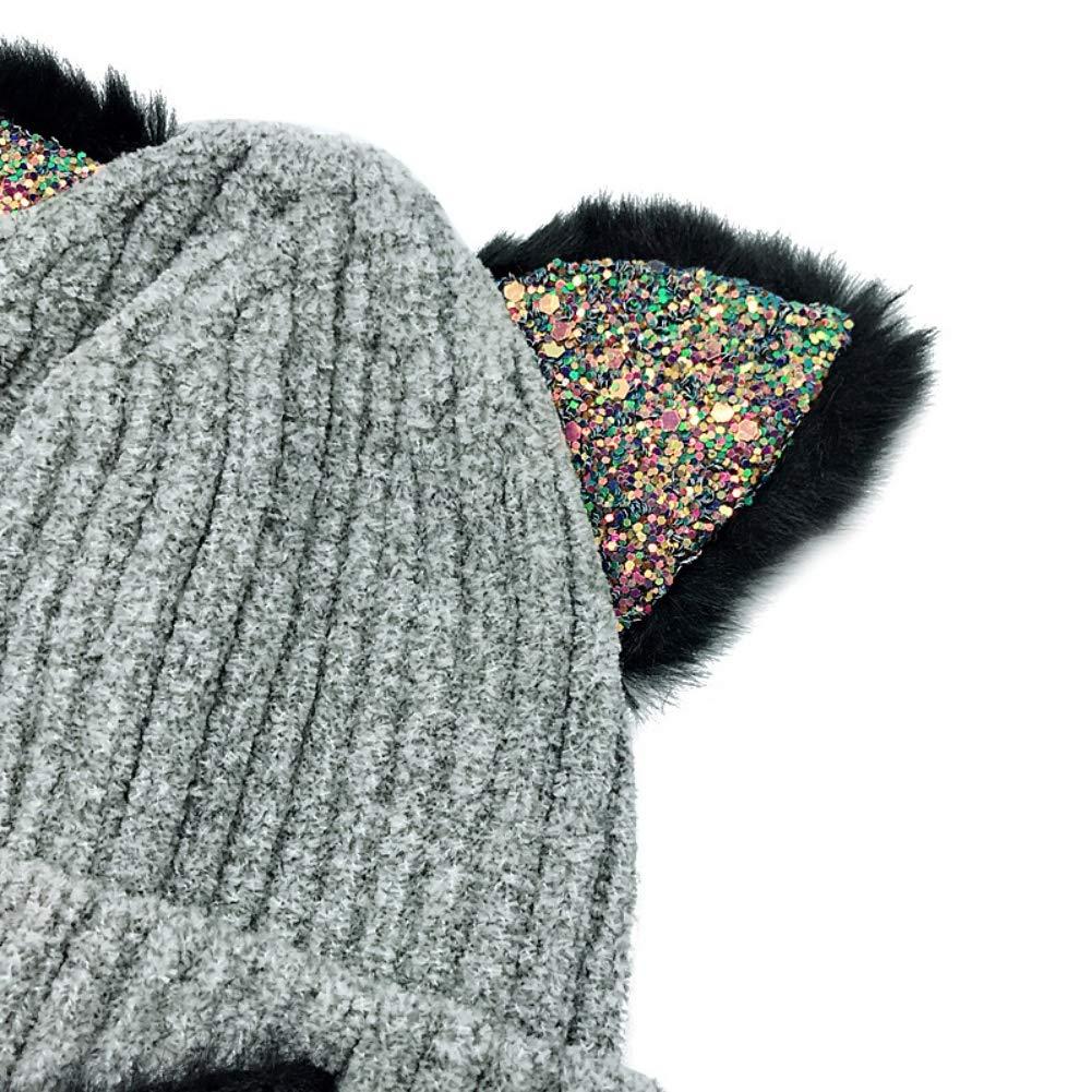 Gyrategirl Baby Winter Hat Caps Cute Toddler Boys Girls Cartoon Bear Caps Kids Headwrap Ear Warmer