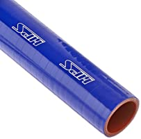 "HPS HTST-150-BLUE Silicone High Temperature 4-ply Reinforced Tube Coupler Hose, 80 PSI Maximum Pressure, 12"" Length, 1-1/2"" ID, Blue"