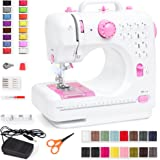 Best Choice Products Compact Sewing Machine, 42-Piece Beginners Kit, Multifunctional Portable 6V Beginner Sewing Machine w/ 1