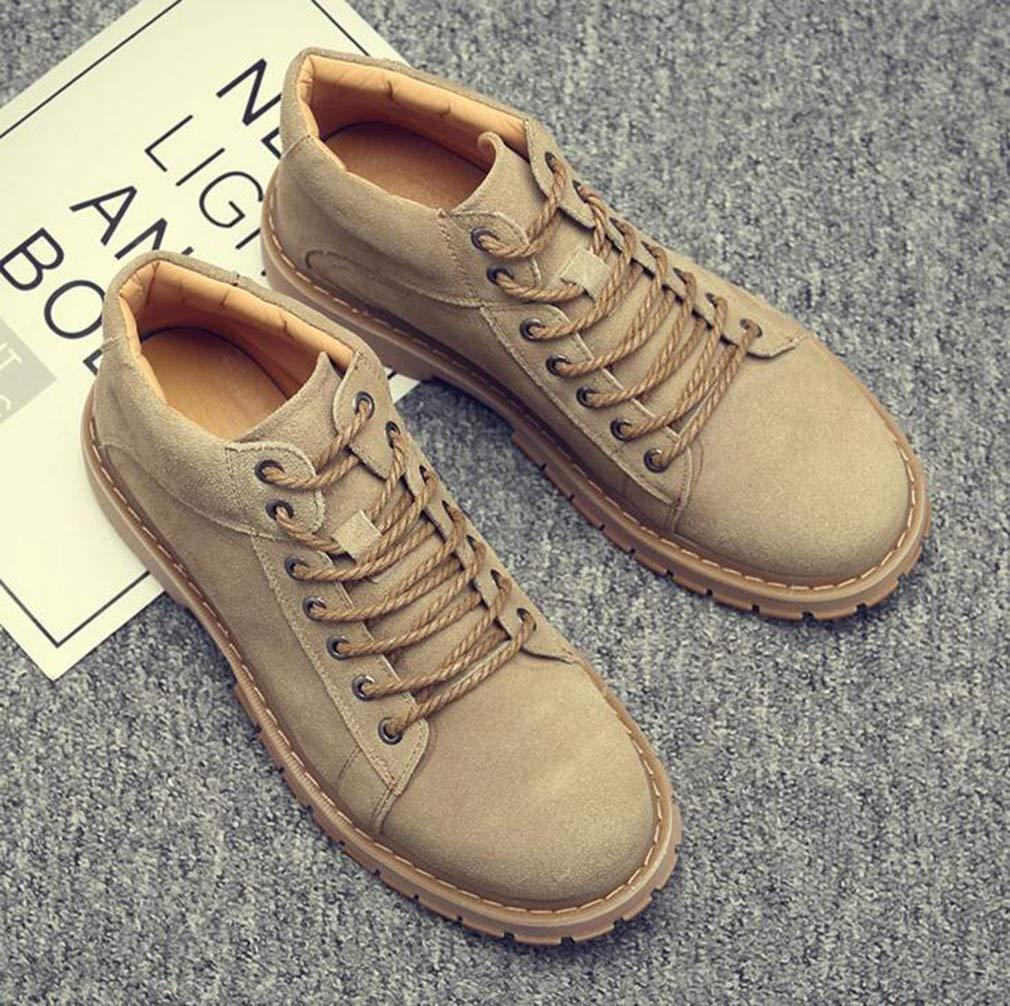 Hy Herrenschuhe, Winter-Retro-Low-Martin-Stiefel, Werkzeugschuhe, Comfort Driving-Schuhe, Business-Schuhe Formal Formal Business-Schuhe Business Work (Farbe   Sand Farbe, Größe   38) 5c04f4