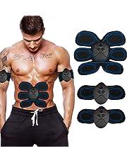 HycM Ceinture Abdominale, Electrostimulateur Musculaire, EMS Muscle Stimulateur - 6 Modes & 10 Niveaux, Massage Abdomen/Bras/Cuisse