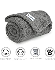 furrybaby Premium Fluffy Fleece Dog Blanket, Soft and Warm Pet Throw for Dogs & Cats Grey (Small (60x80cm))
