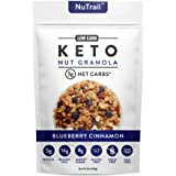 NuTrail™ - Keto Blueberry Nut Granola Healthy Breakfast Cereal - Low Carb Snacks & Food - 3g Net Carbs - Almonds, Pecans, Coc