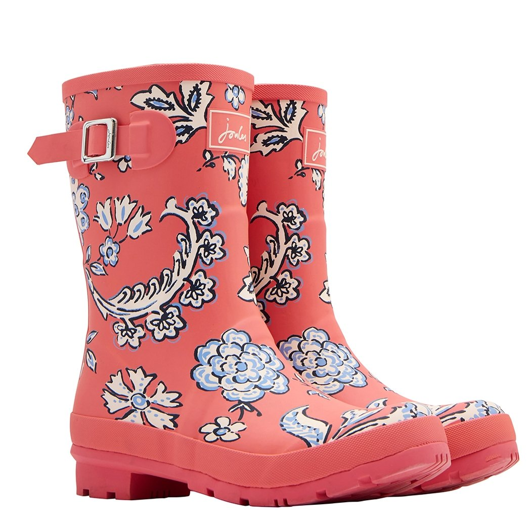 Joules Women's Molly Welly Rain Boot B079M1MG16 Women's 9|Red Sky Indienne Floral