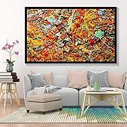 Fenfei Jackson Pollock Pintura al óleo Abstracta Arte de la Pared Pintura de la Lona Carteles e Impresiones en Color Arte Mo
