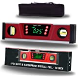 10-Inch Digital Torpedo Level and Protractor   Neodymium Magnets   Bright LED Display   V-GROOVE MAGNETIC BASE   IP54 Dust/Wa