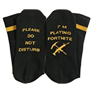Please Do Not Disturb I'm Playing Fortnite Funny Gamer Gift Socks - Unisex, One Size Fit All