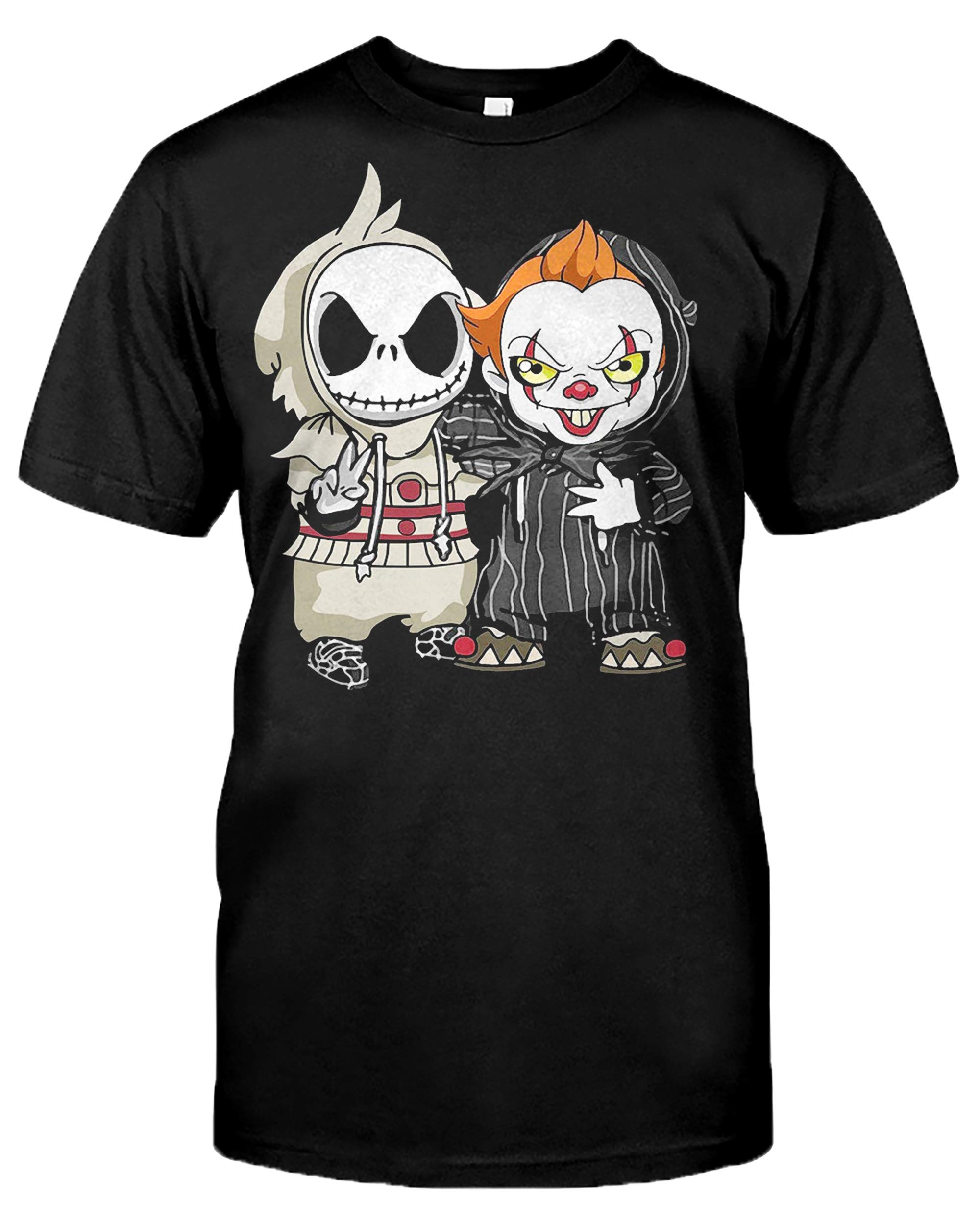Clothing Change It Jack Pennywise Skellington Nightmare Funny Halloween T Shirt